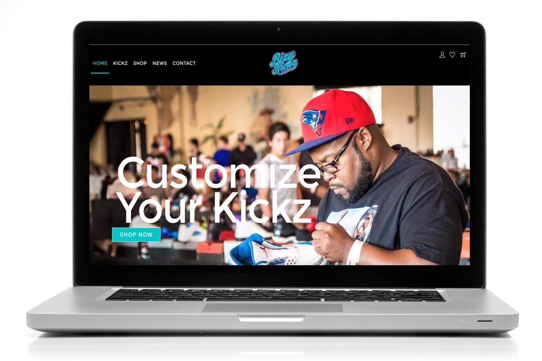 Bizy Kickz - Web Design
